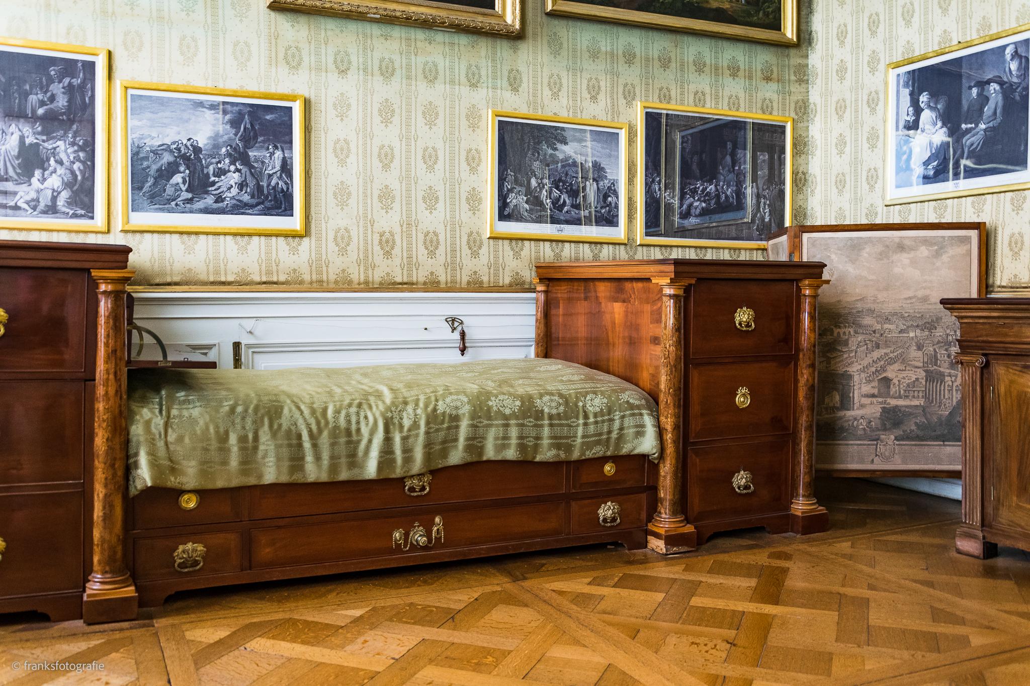 Innenräume von Schloss Wörlitz Schalfzimmer des Fürsten