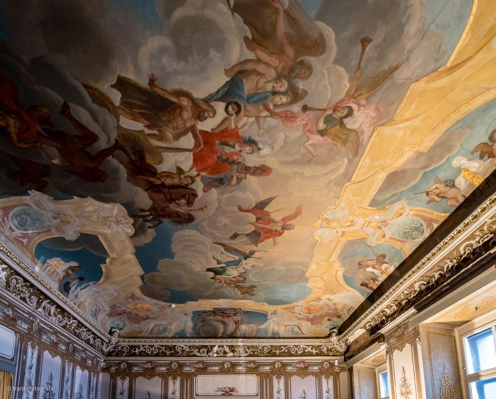 Schloss Altenburg erkunden Deckengemälde